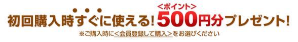500円お得!
